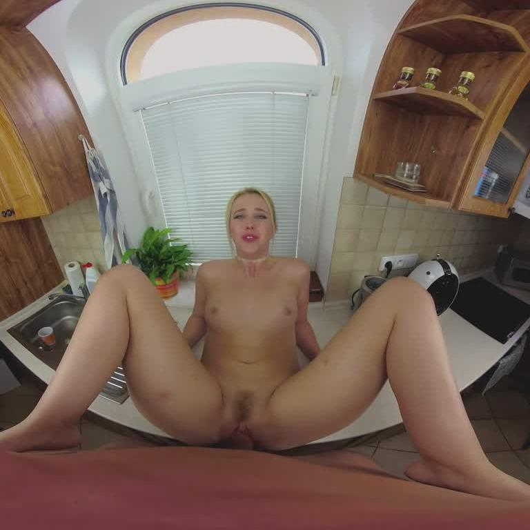 VR Housewife Swallowing Cum