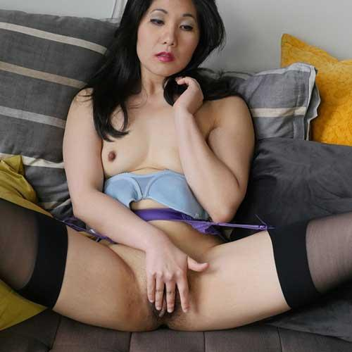 Bad Asian Girl in Fishnets