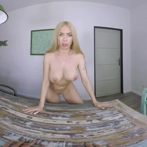 Blonde Exhibitionist Needs A Cock
