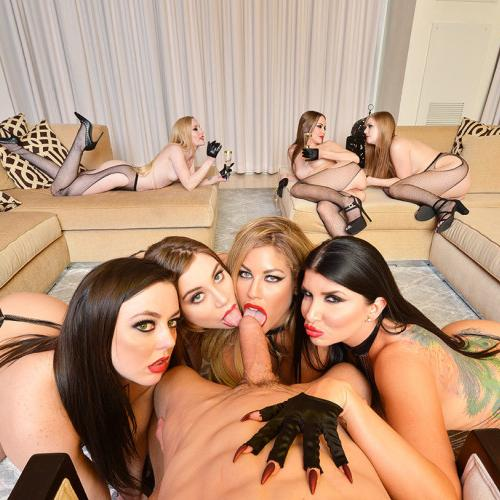 Fuck blowjob and at orgy party three sluts can