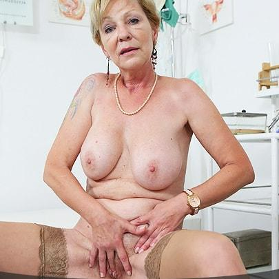 horny grany waiting for the doctor