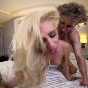 Blonde Blowjob & Doggystyle Sex