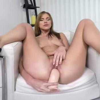 Babe In Anal Dildo Penetration