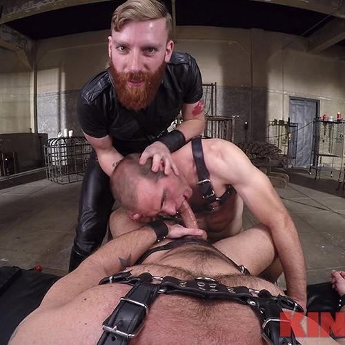Fuck Boy Gets Taken By Leather Daddy