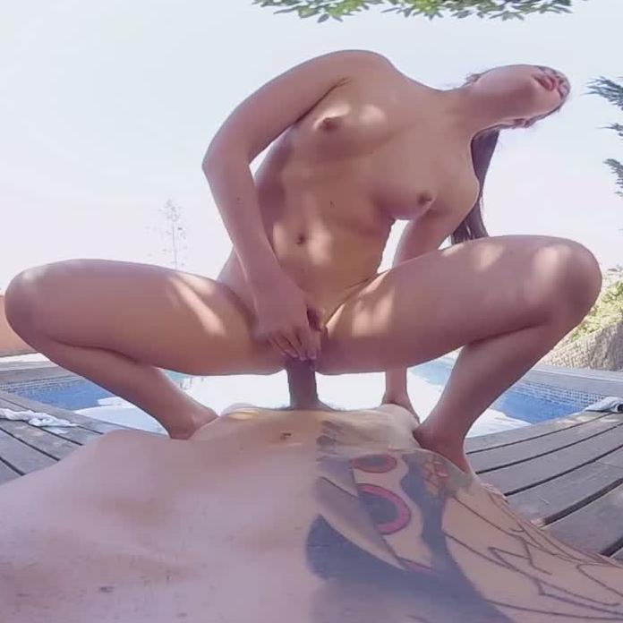 Teen Sister Takes Your Cock By The Pool