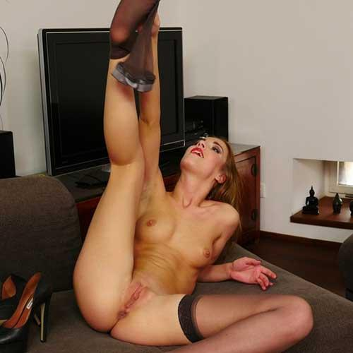 Alexis in Pantyhose & Stockings