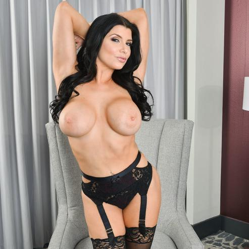Romi Rain fucking in the hotel with her big tits