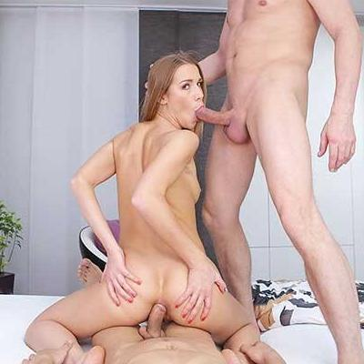 Lucky VR Girl Gets Two Dicks To Fuck