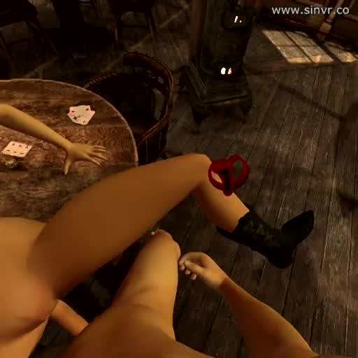 CGI Cowgirl Gets Fucked On Card Table