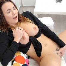 Brunette Plays With Her Pussy Hard