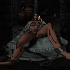 CGI Girl Chained To Table In Dungeon