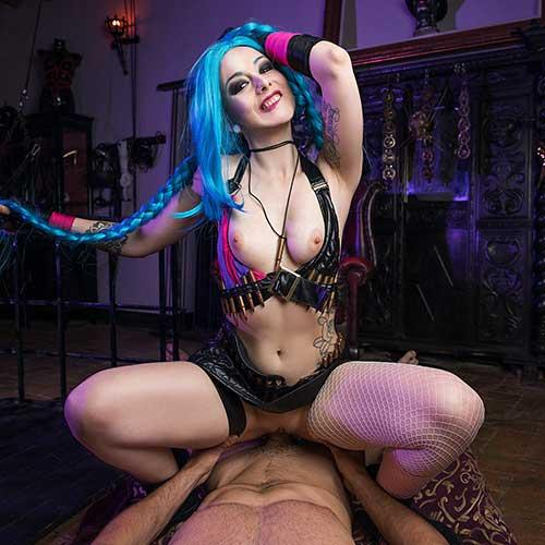 VR Cosplay Jinx Gets Her Kicks Fucking Your Cock