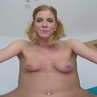 Blonde Puts Her Juicy Pussy in Your Face
