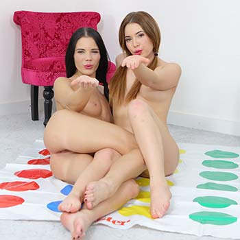 Hotties Play Strip Twister